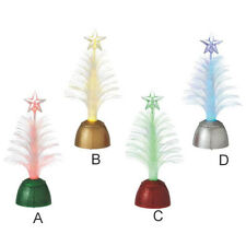 Lighted Fiber Optic Christmas Tree Mini Shimmers ~ 4 Assorted ~ Midwest-CBK