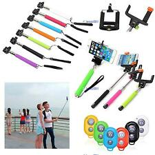 Handheld Bluetooth Selfie Stick Monopod Extendable For iPhone Samsung HTC LG BS