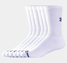 Under Armour UA3879 3879 Men's Charged Cotton Crew Sock All Sizes 6 Pairs