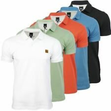 Bench Mens Polo T-Shirt 'Tidie' Cotton Pique Logo Collar Short Sleeved
