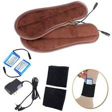 Foot Rechargeable Battery Heated Insoles Warmer (Battery + Socks Holder Included