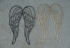 Wrought Iron Metal Angel Wings Large Wall Decor Sculpture 16 X 25 Black or Gold