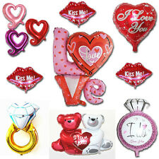 Love Valentine Wedding Couple Lover Heart Foil Balloons Party Favor Supply Props