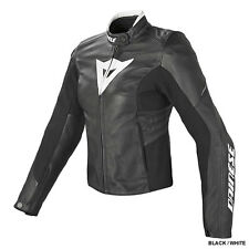 Dainese Ladies Laguna Evo Leather Jacket Black/White