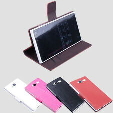 """Ultra-Slim Luxury Leather Case Stand Cover Skin For 5"""" iNew V7A Smartphone"""
