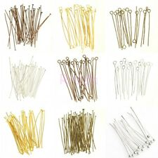 Lots 100Pcs Silver Golden Head/Eye/Ball Pins Finding 21 Gauge any size to choose
