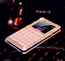For Apple iPhone 6 & 6 Plus Luxury Bling Diamond Crystal Flip Leather Cover Case