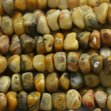 """Natural Genuine Yellow Crazy Lace Agate Nugget Loose Beads Free Form Beads 16"""""""