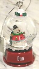 Personalized Snow Globe Ornament-Choose Name From Drop Down-D - J-GANZ-FREE Ship