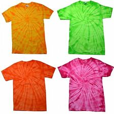 (Free PnP) Colortone Childrens Unisex Tie Dye Short Sleeve Cotton T-Shirt