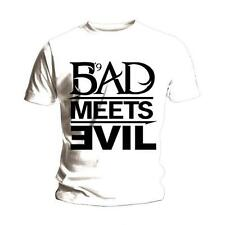 EMINEM Bad Meets Evil T-shirt (White) 'New & Official' Slim Shady M. Mathers