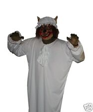Big Bad Wolf Mask and Night Gown Costume Red Riding Hood Fancy Dress