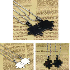 Tide New Gift Mens Women Couple Stainless Steel Puzzle Pendant Necklace