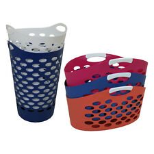 Flexi Laundry Basket Multi Coloured Tall Standing Flexible Hamper Washing Iron