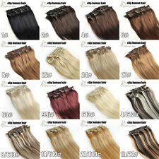 Full Head Clip In Remy Hair Extensions 100% Real Human16''18''20''22''26' Hot