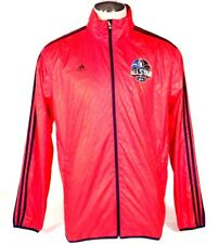Adidas NBA New Orleans 2014 All Star Red Zip Front Wind Track Jacket Mens NWT