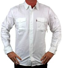 NEW LEVI'S MEN'S COTTON REGULAR FIT BUTTON UP CASUAL DRESS SHIRT WHITE 3LMLW057