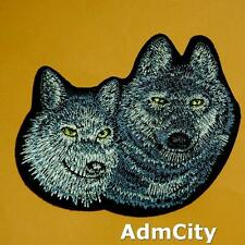 1 Wolf Wild Animal Patch Iron on Sew Retroembroidered Embroidery Applique Badge