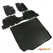 Rugged Ridge Floor Liner Kit, Black, 07-15 Jeep 4-Door Wrangler # 12988.01