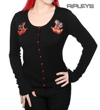 BANNED Rockabilly Black CHERRY BOW Cardigan Top Shrug Pinup All Sizes