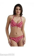 New Lepel Polka Passion Spot Red or Pink Bikini Sz 38FF &14 bottoms