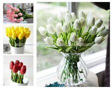 20Pcs Tulip Artificial Flower Real Touch Latex Bridal Wedding Bouquet Home Decor