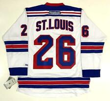 "MARTIN ST. LOUIS NEW YORK RANGERS WHITE REEBOK NHL PREMIER JERSEY WITH ""A"""