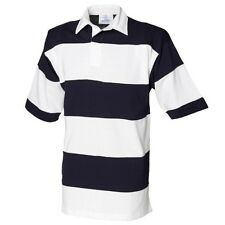 (Free PnP) Front Row Sewn Stripe Short Sleeve Rugby Sports Polo Shirt
