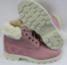 "NEW Girls Kids Youth TIMBERLAND 22765 6"" Pom Pom Pink WATERPROOF Boots Shoes"