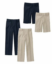 NEW Approved Schoolwear Boys' Flat Front Short & Pants School Uniform Khaki Navy
