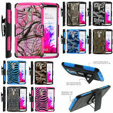 Armor Rugged Stand Holster Combo Clip Case LG G3 Camo Snake Skin Print Unique