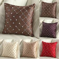 Fashion Lattice Pattern Pillow Case Home Room Deco Back Throw Sofa Cushion Cover