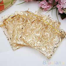 Wedding Party Jewelry Candy Organza Drawstring Favour Gift Mini Bags Pouches