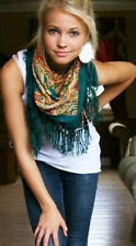 Geniune Russian Wool Shawl from Pavlovo Posad with Wool Fringe Famous Scarf Wrap