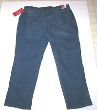 Nwt New Lee Comfort Fit Stretch Straight Leg Jeans No Gap Waistband Womens Plus
