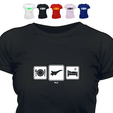 RAF Pilot Gift T Shirt Daily Cycle Fly 888
