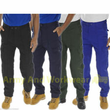 Super Click Workwear Drivers Trousers Heavy Duty Mens Workwear Multi Pocket Pant