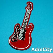 Guitar Electric Music Embroidered Iron on Patch Badge Applique Biker Punk Rock