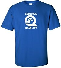 Conrail Quality Retro Logo Railroad Train Conglomerate 70s Cool T-Shirt S-5XL