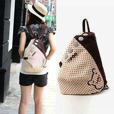 Womens Girls Hot Popular Canvas Backpack Rucksack School Shoulder Bag Bookbag