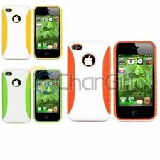 Hybrid Hard TPU Skin Dual Layer Back Cover Case For Apple iPhone 4 4S 4th 4G