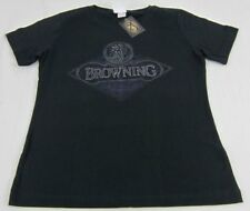 Womens NWT Browning Rivets Buckmark Classic Fit Tee T-Shirt Black Any Size S-2XL