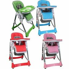 NEW FOLDABLE BABY HIGH CHAIR FEEDING HIGHCHAIR COMFORTABLE KIDS ADJUSTABLE SEAT