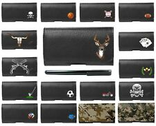 For LG Design Faux Leather Horizontal Pouch Belt Clip Wallet FREE Stylus Pen