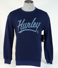 Hurley Signature Retreat Marv Blue Crew Neck Sweatshirt Sweater Mens NWT