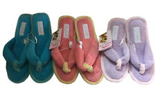 Ladies Slippers Grosby Tyra Aqua Pink or Lilac Slipper Thong Size S - XL Memory