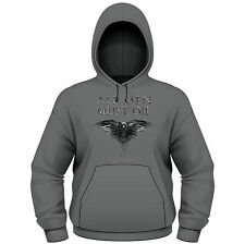 GAME OF THRONES All Men Must Die Crow HOODIE SWEATSHIRT NEU