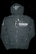 "$98 NEW REBEL SPIRIT ALL BLACK ""REBEL BRIGADE"" HOODY SWEATER"