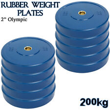 20kg Bodypower Olympic Rubber Disc Weight Plates EZ Barbell Bar Gym Hoome Fitnes