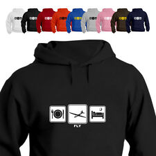 Glider Pilot Gift Hoodie Hooded Top Fly Daily Cycle